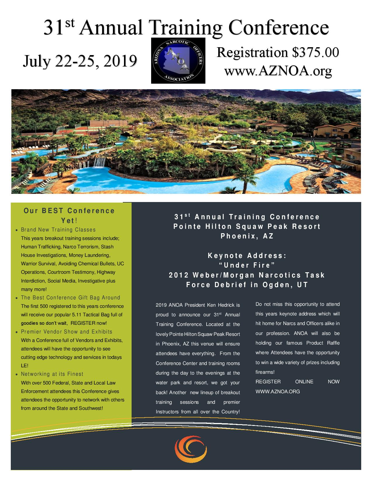 Arizona Narcotic Officers Association Annual Conference